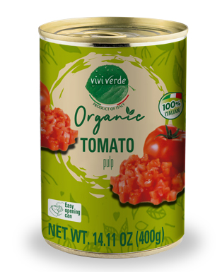 Organic Diced Tomatoes 400 g (14,11 oz)