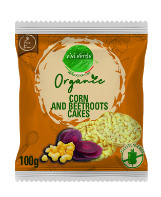 Organic Corn and Beetroot cakes 100 g (3,53 oz)