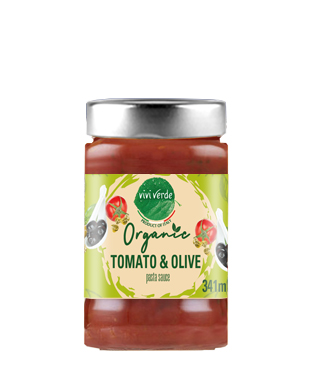 Organic Tomato and Olive Pasta Sauce 350 g (12,35 oz)