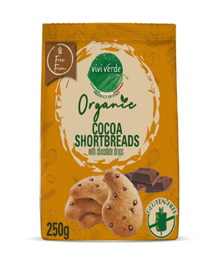 Organic Shortbread with Chocolate Drops gluten free 250 g (8,82 oz)