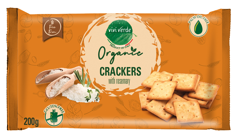 Organic Rosemary Crackers single portion gluten free 200 g (7,06 oz)