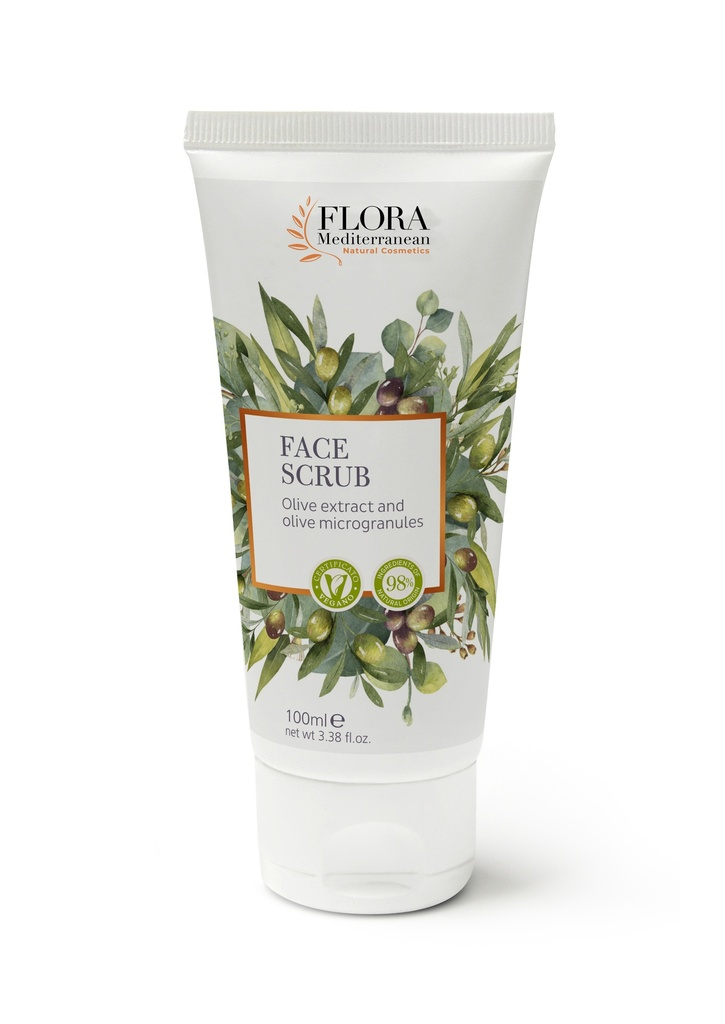 Face scrub with olive oil and extract 100 ml