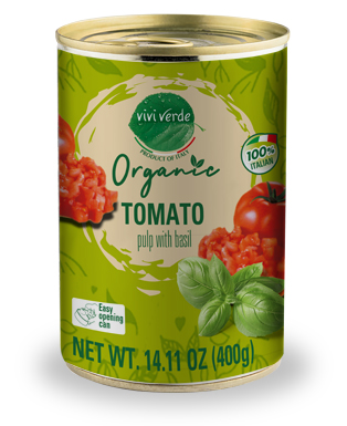 Organic Diced Tomatoes with basil 400 g (14,11 oz)