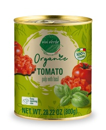 [US2101144] Organic Diced Tomatoes with basil 800 g (28,22 oz)