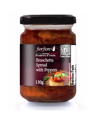 Bruschetta Spread with Peppers 130 g (4.5 OZ)