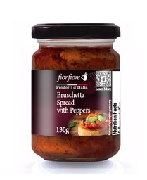 [US2000067] Bruschetta Spread with Peppers 130 g (4.5 OZ)
