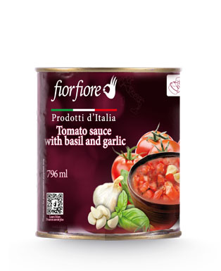 Diced Tomatoes with garlic and basil 800 g (28 OZ)