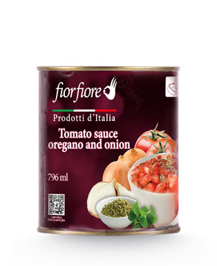 Diced Tomatoes with onion and oregano 800 g (28 OZ)